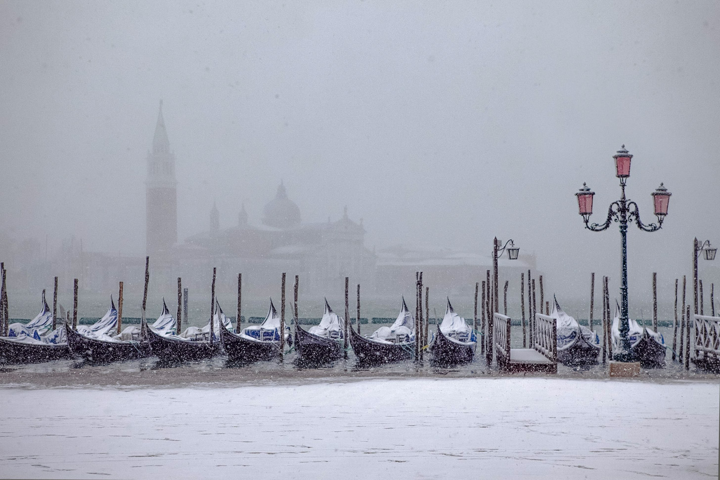 Sneeuw in Venetië