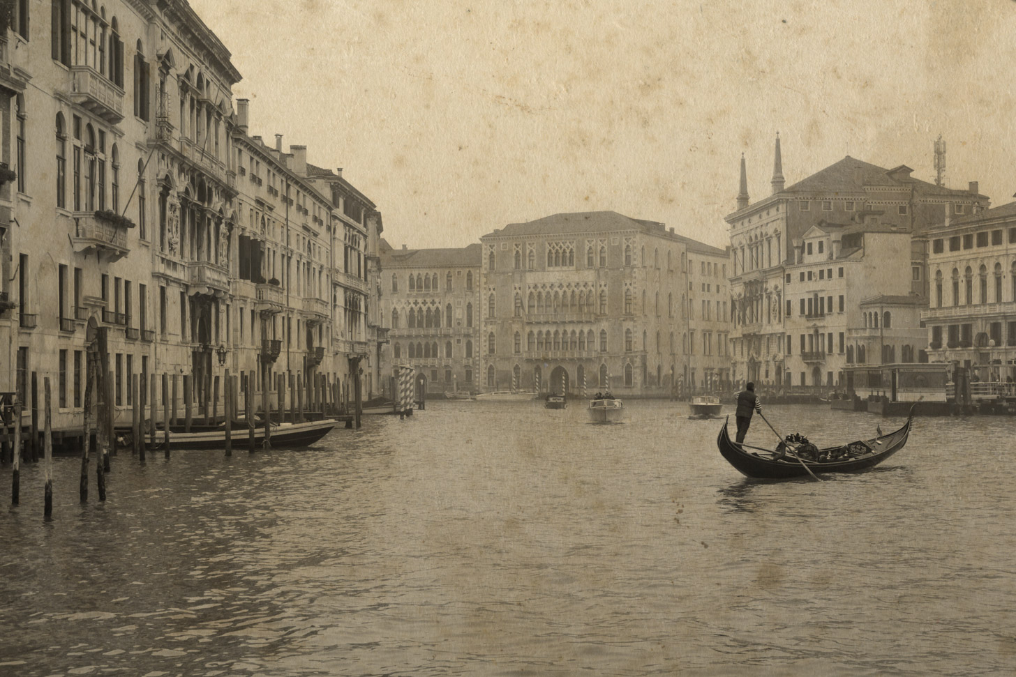 Venetië meer dan honderd jaar geleden.